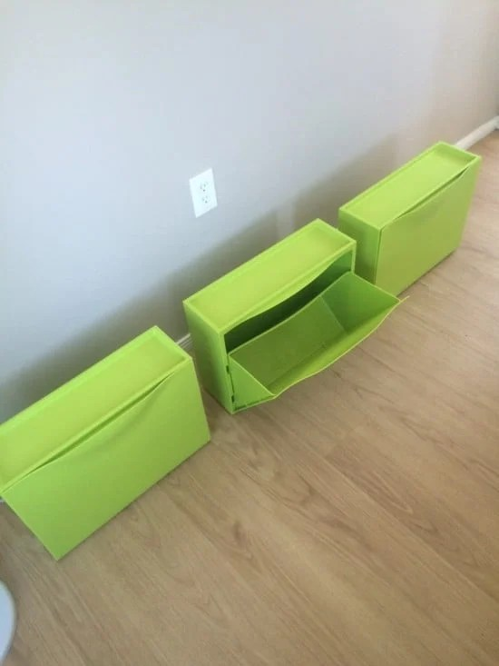 IKEA TRONES shoe storage boxes