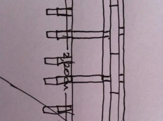 Sketch of headboard plan