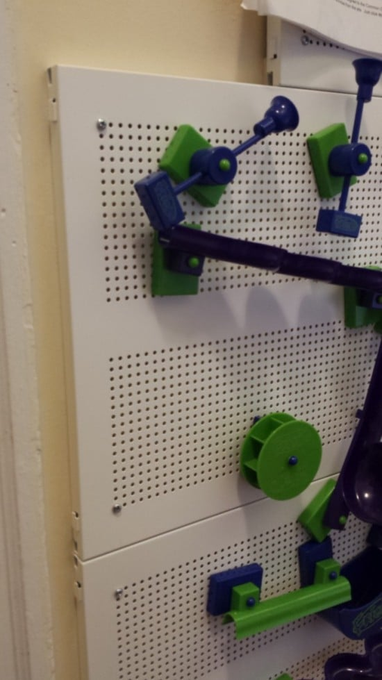 Magnetic wall from IKEA ALGOT shelves