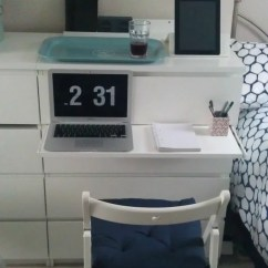 Folding Chair With Desk Broda Accessories Malm Chest Gets A Pull-out Laptop Table - Ikea Hackers