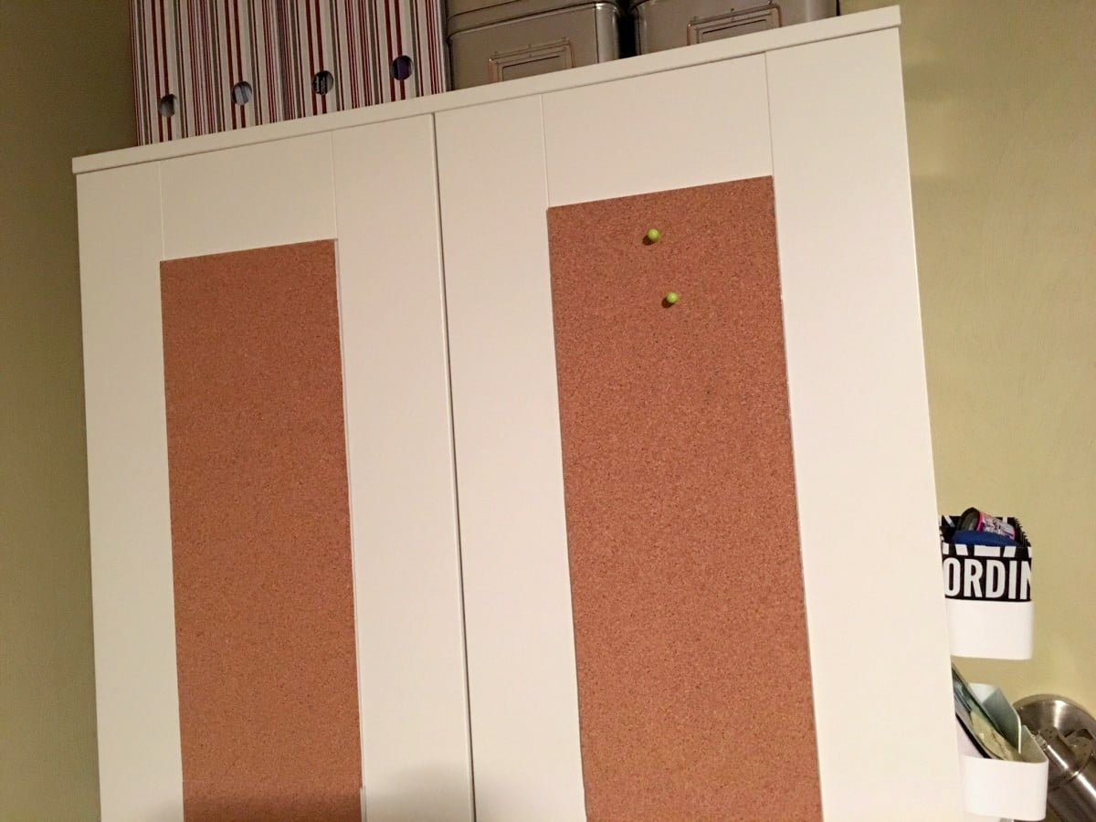 Ikea brimnes wardrobe with corkboard panels ikea hackers for Email ikea com