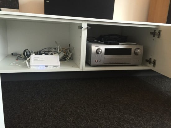 Fridge Top Cabinets Hacked Into Tv Console Ikea Hackers
