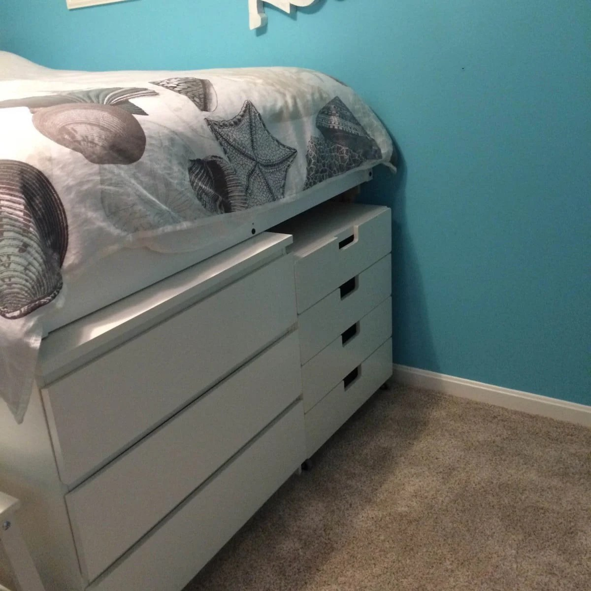 Malm Platform Storage Bed Ikea Hackers