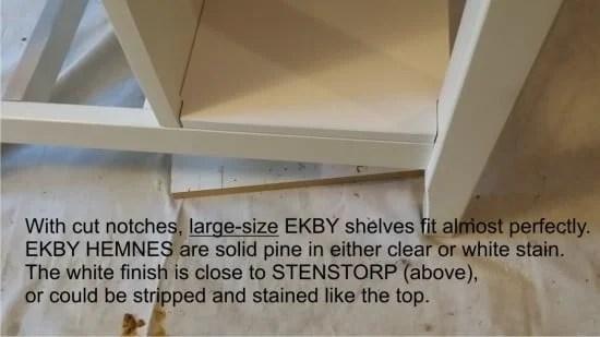 Adding shelves to the Stenstorp kitchen island