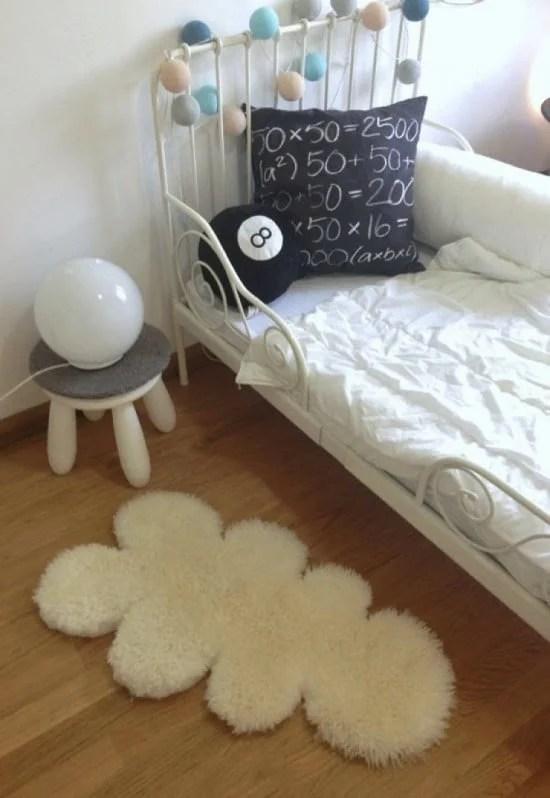 DIY a cloud sheep rug from IKEA LUDDE sheepskin
