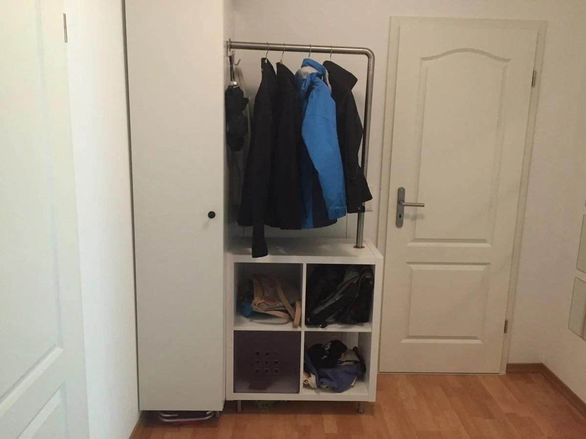 Kallax And Metod Micro Wardrobe Ikea Hackers