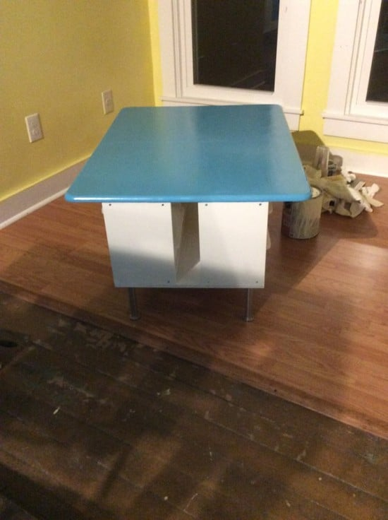 Playroom table with TROFAST storage