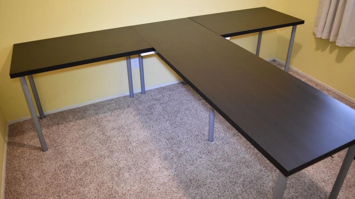 TShaped Partner Desk from IKEA parts  IKEA Hackers