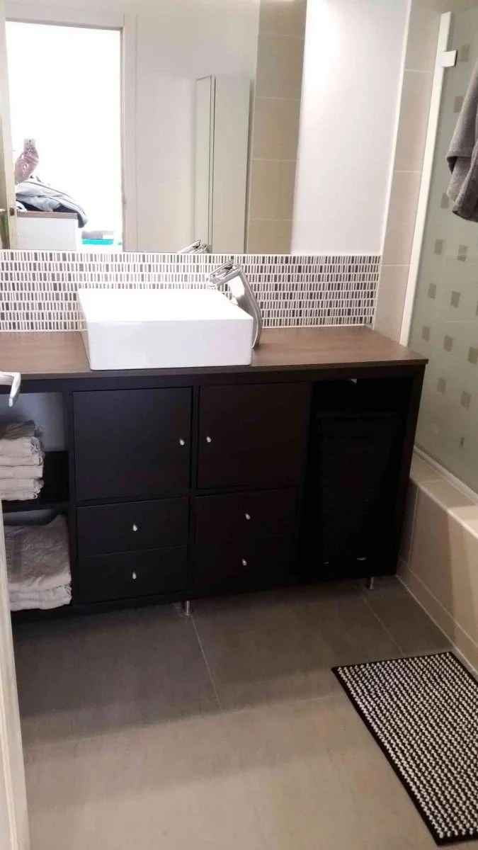 Fresh KALLAX bathroom vanity for small bathroom