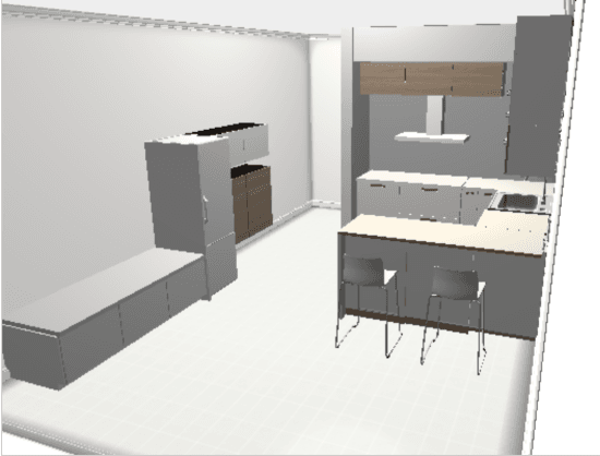 IKEA Home Planner - kitchen plan 1