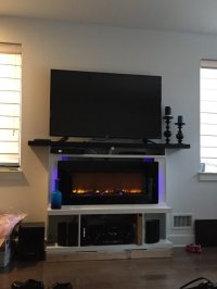 Custom built-in fireplace surround with mantel - IKEA ...