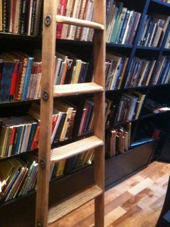 Hacked And Stacked Billy Rolling Ladder Library Ikea Hackers
