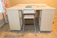 IKEA Kallax crafting table