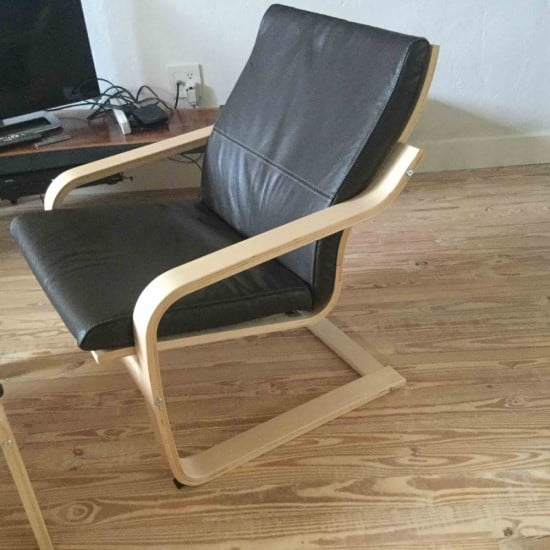 IKEA POANG chair with no headrest
