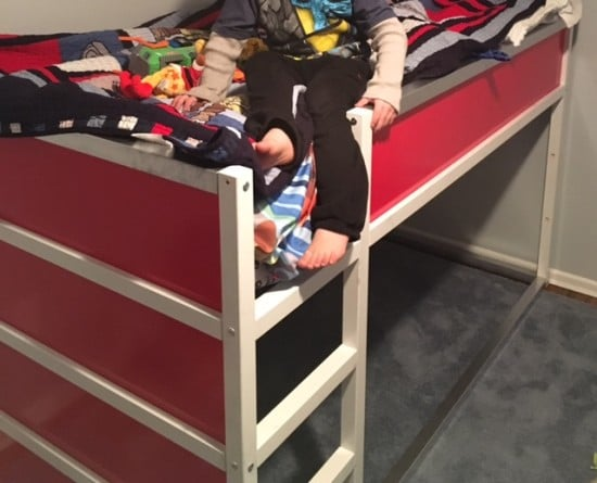 Fdny Fire Truck Bunk Bed From Ikea Kura Ikea Hackers