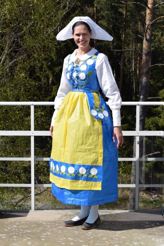 swedish folk costume from IKEA FRAKTA bags