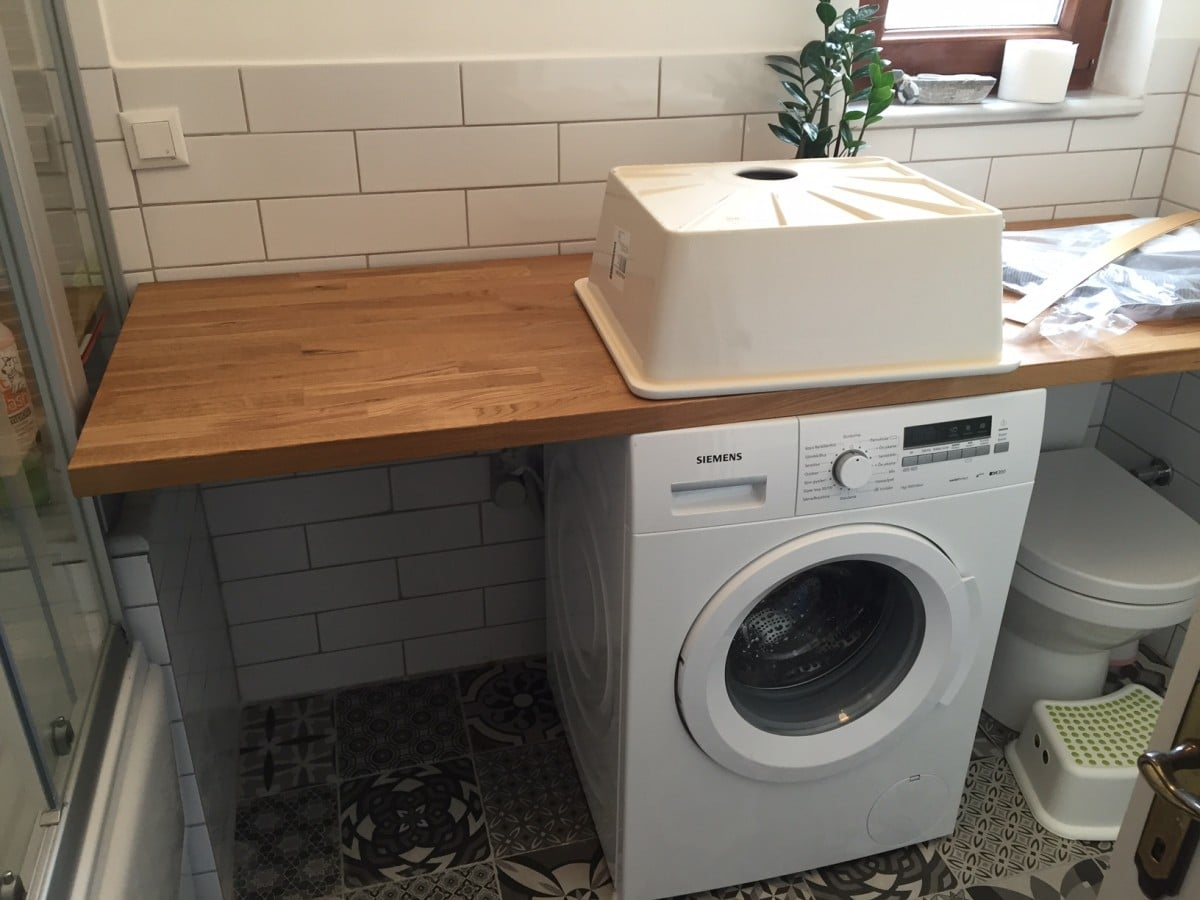 Hackers help ikea kitchen fixtures in bathroom ikea for Kitchen cabinet washing machine