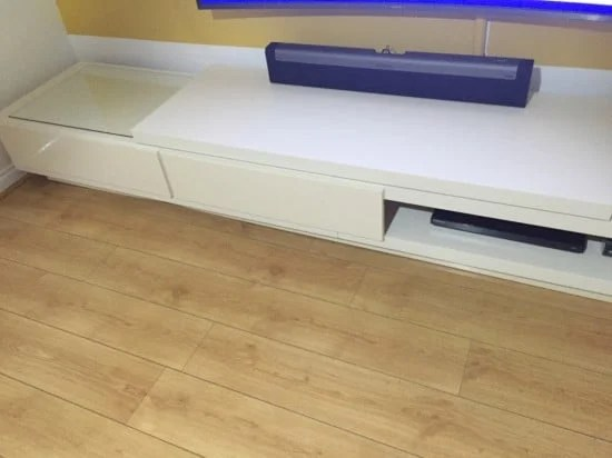 Adding drawers to the Lack tv stand