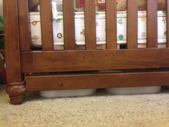 Under-crib drawers - front