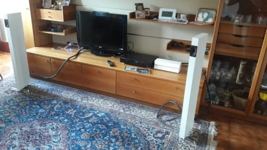 IKEA Lack Stereo System - full range speakers and integrated amplifier
