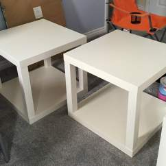 Lack Sofa Table As Desk Quentin Corner Storage Bed Tables Hacked Into Couch Under Loft Ikea Hackers Glue Second Top To Make Cubes