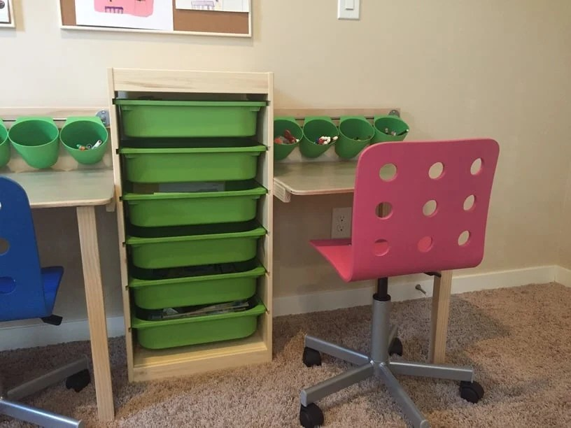 Trofast Kid Desk And Workstation Ikea Hackers