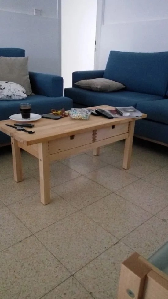 FORHOJA as a coffee table