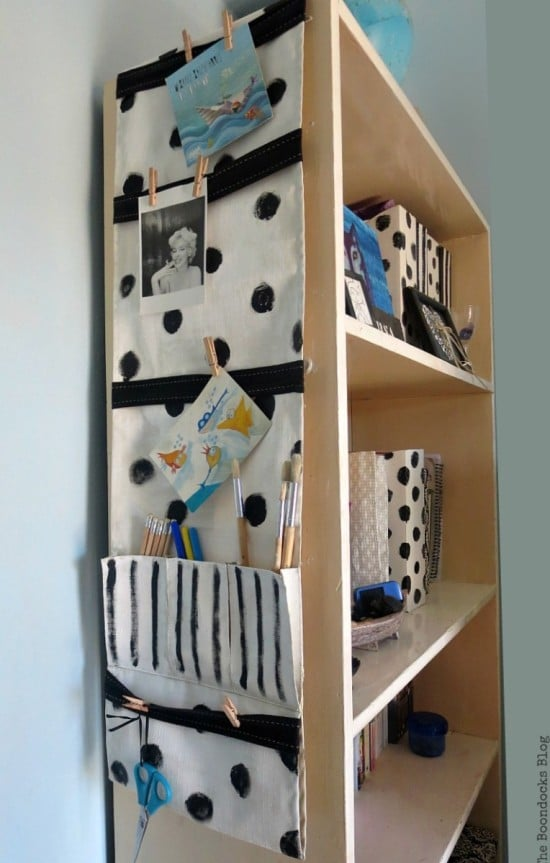 How to make an office/ school organizer from an INDOR remote control pocket