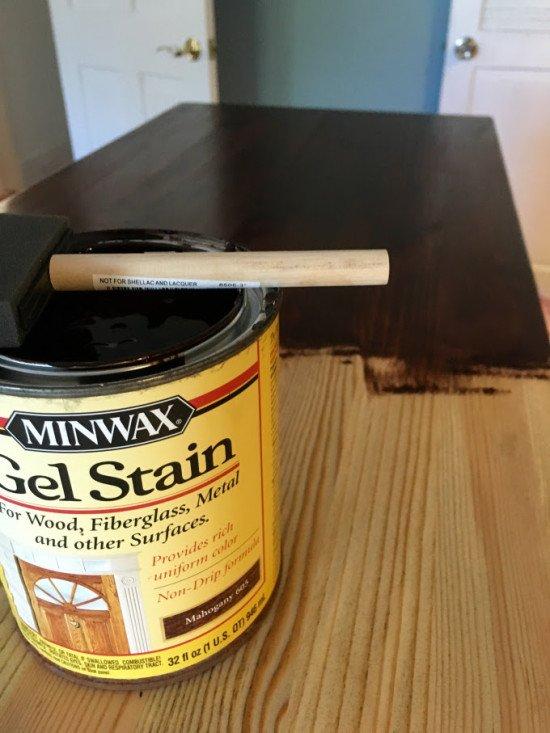 Apply gel stain