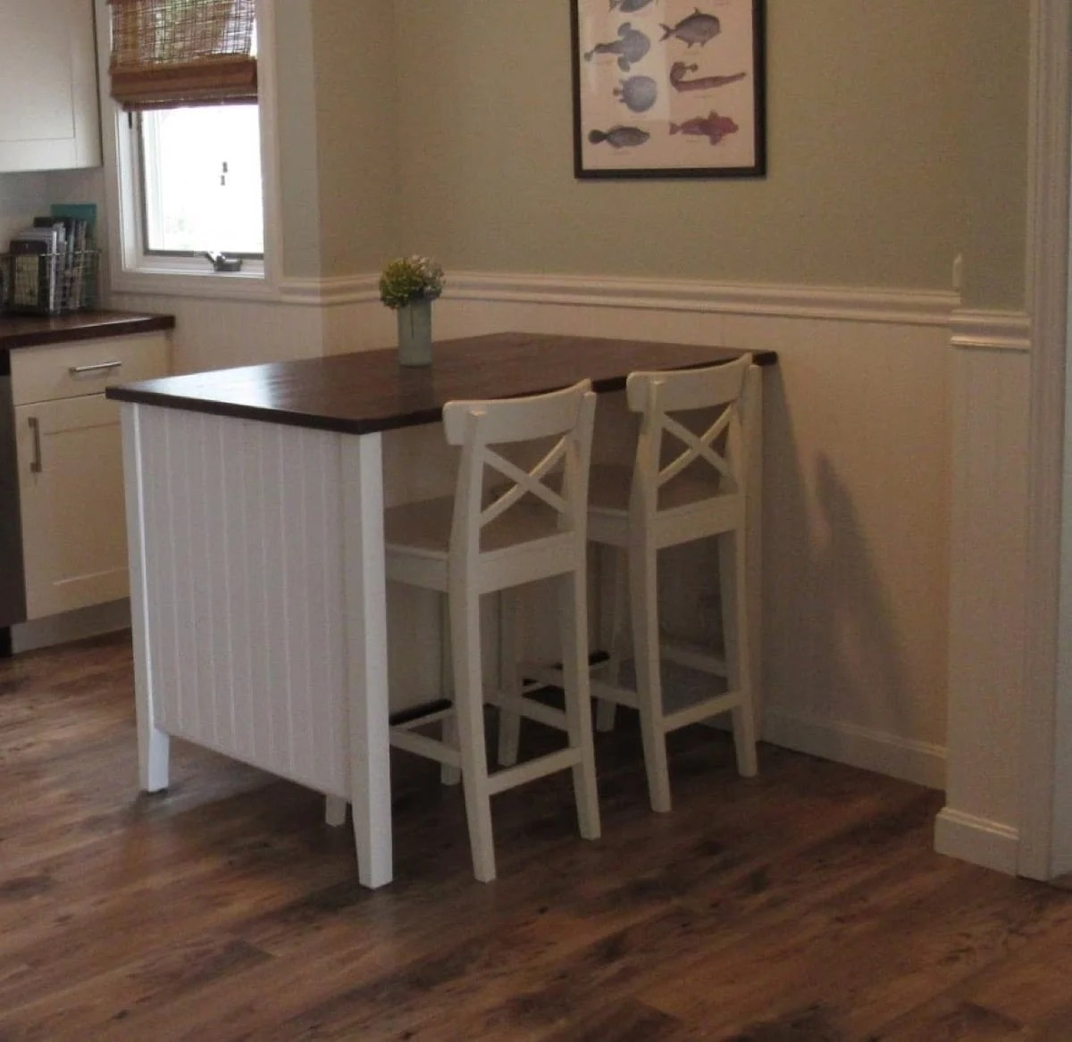 ikea kitchen island small butcher block table coastal makeover for stenstorp hackers 3