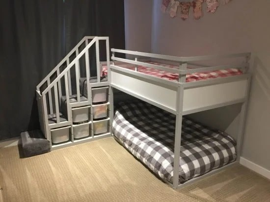 Kura Bunk Bed Hack for two toddlers