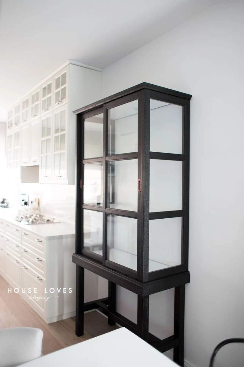 Upgrade Ikea Malsjo To Elegant Tall Glass Cabinet Ikea