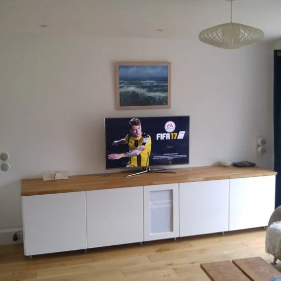 8-ikea metod TV unit