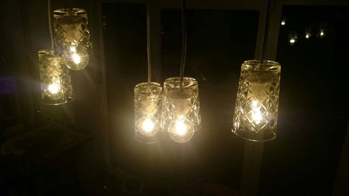 Flimra Pendant Lamp From Drinking Glasses Ikea Hackers