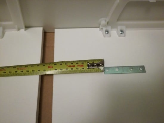 Set the brackets 10cm from the edge