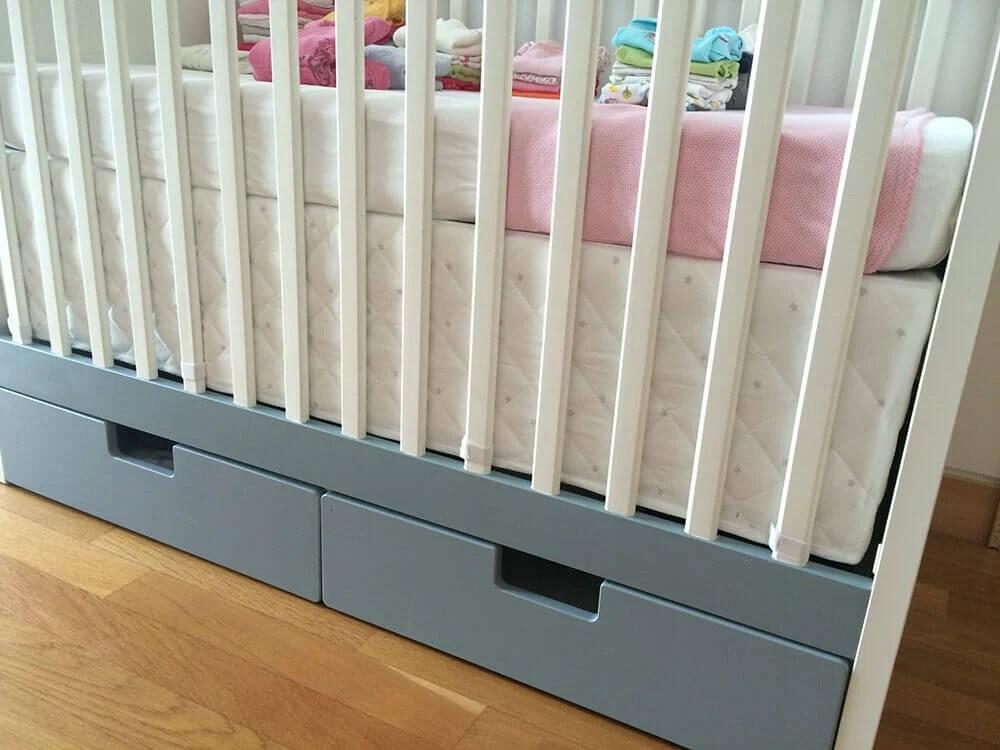 From Crib Bumper Pad To Crib Skirt Ikea Hackers