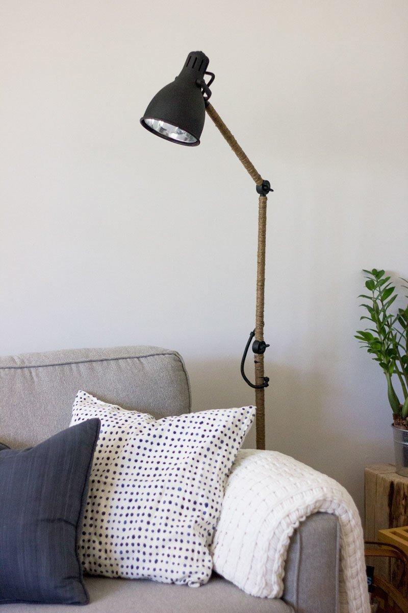 shelf units living room set of tables for west elm-inspired ikea arod lamp hack - hackers ...