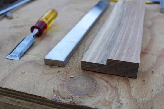 Cut an edge out for the GRUNDTAL magnetic knife holder to sit on