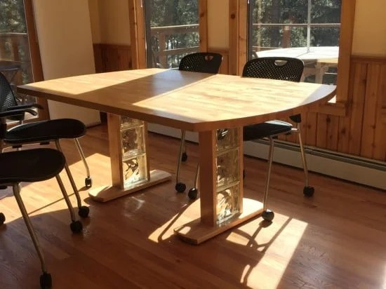 Birch Dining Table from Hammarp Countertop