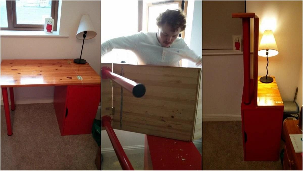 Top 10 IKEA hacks of 2017 - collapsible desk