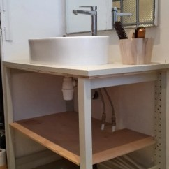 Natural Wood Kitchen Cabinets Movable Islands For Ivar The Bathroom - Ikea Hackers