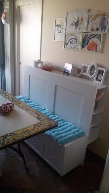 Kitchen bench with storage
