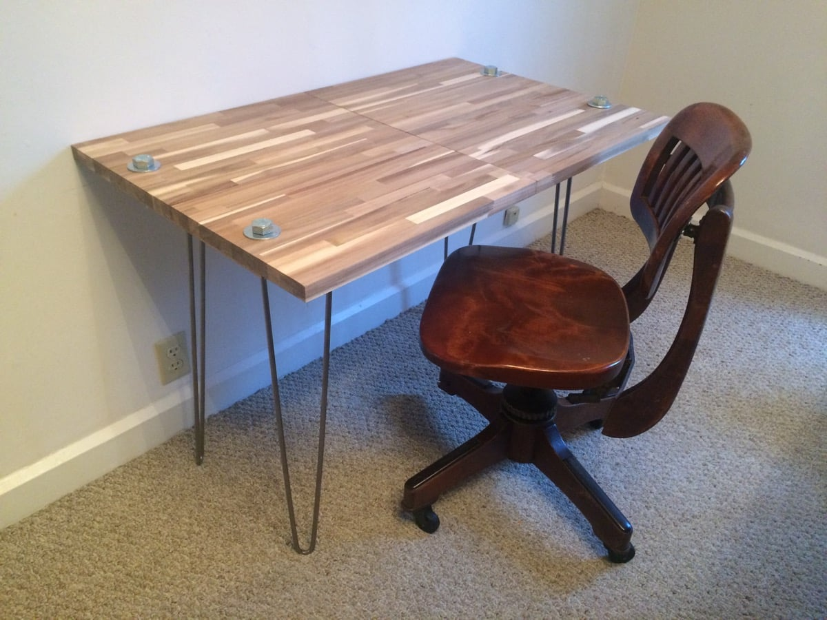 skogsta chopping desk ikea hackers. Black Bedroom Furniture Sets. Home Design Ideas