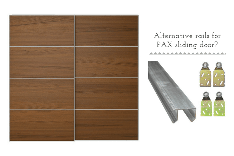 Alternative rails for PAX sliding doors