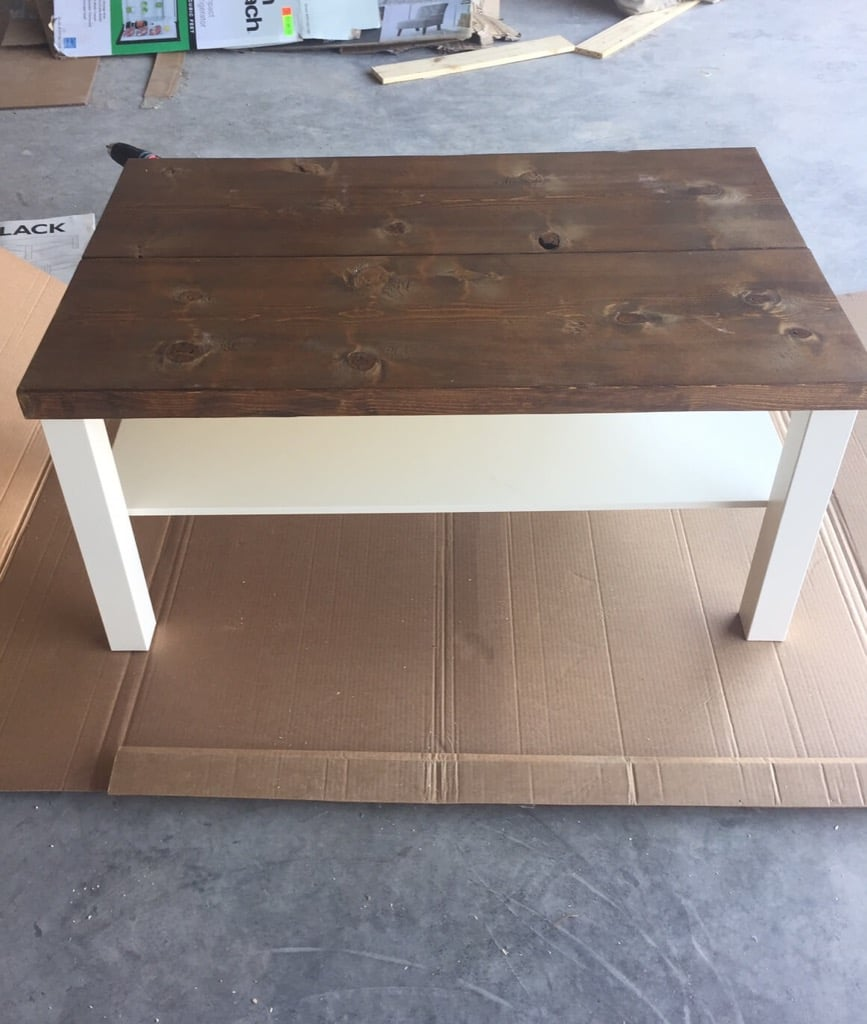Hackin' the Lack into a rustic coffee table