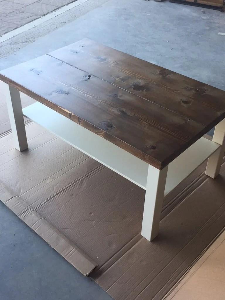 Stunning IKEA LACK rustic coffee table diy
