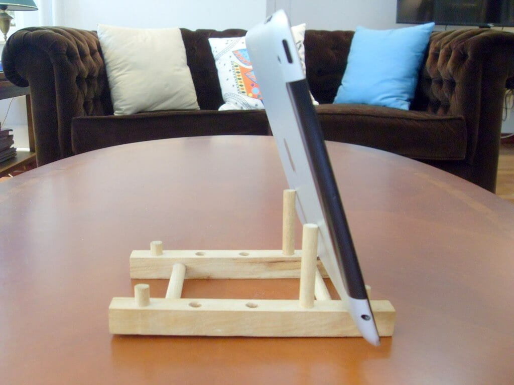 Turn A Cheap Wooden Plate Holder To An Ipad Stand Ikea