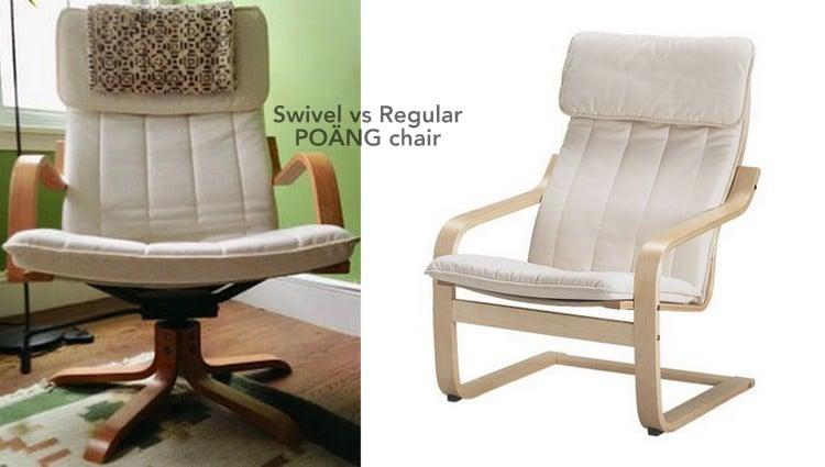 Swivel vs Regular POÄNG chair