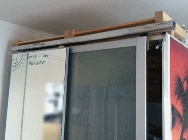 Ikea Pax Sliding Door Rails Alternatives