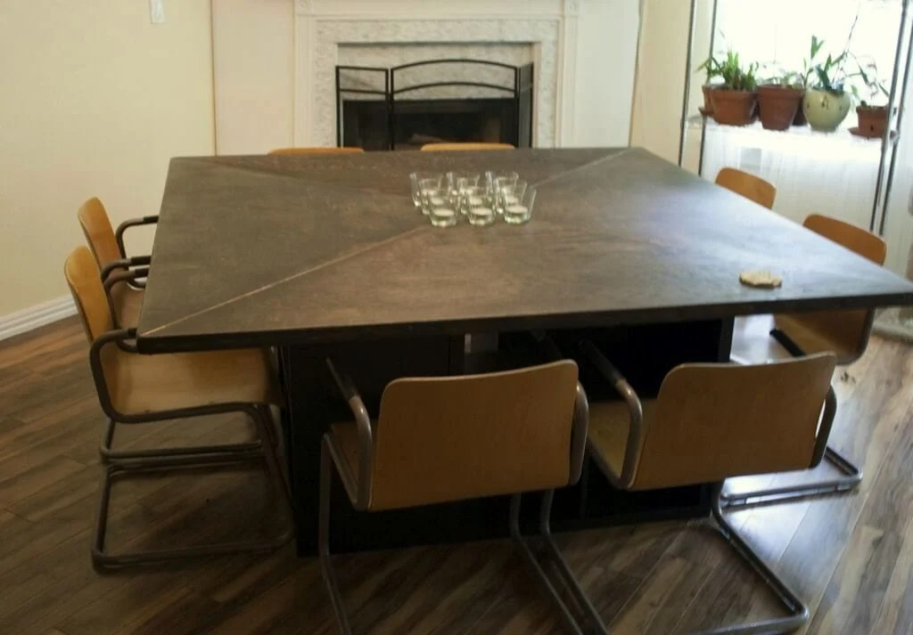 Cool Massive Expedit Square Dining Table